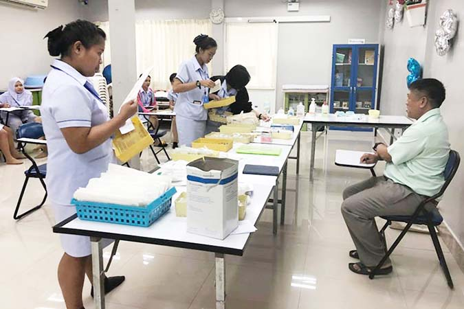 สอบปฏิบัติวิชา จัดเซ็ท sterilized รุ่น 35/61